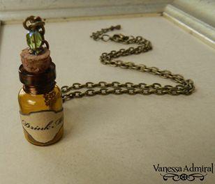 ~Drink Me~ Wonderland Inspired Vial Necklace