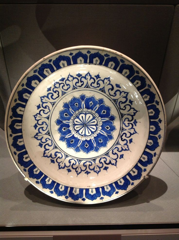 Dish with Kaleidoscope Design, Turkey, Iznik, Ottoman Period, 1585-90, Metropolitan Museum of Art