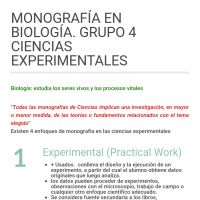Infographic: MONOGRAFÍA EN BIOLOGÍA. GRUPO 4 CIENCIAS EXPERIMENTALES