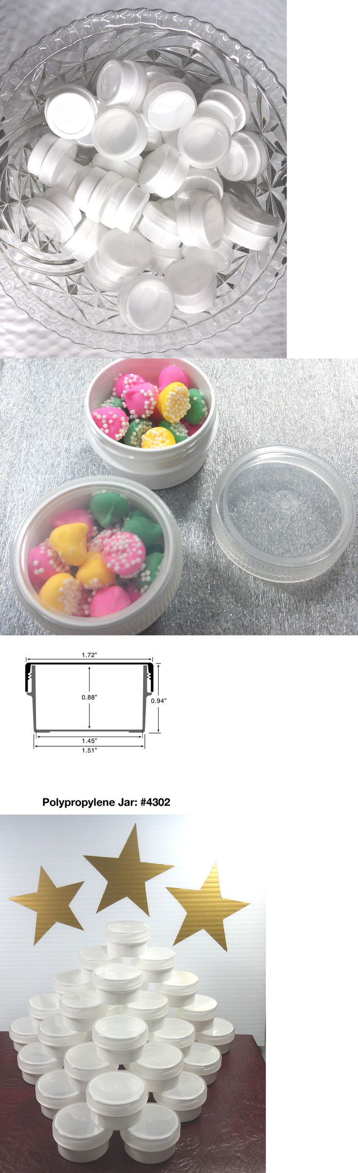 Storage and Display 83893: 100 White Jewelry Jars With Clear Caps - Great For Rings! Screw Cap Stays Closed -> BUY IT NOW ONLY: $49.5 on eBay!