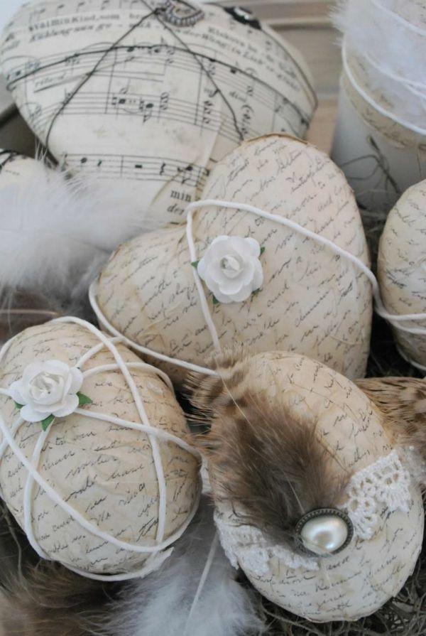 ostereier bilder schwarz weiß serviettentechnik ostereier gestalten