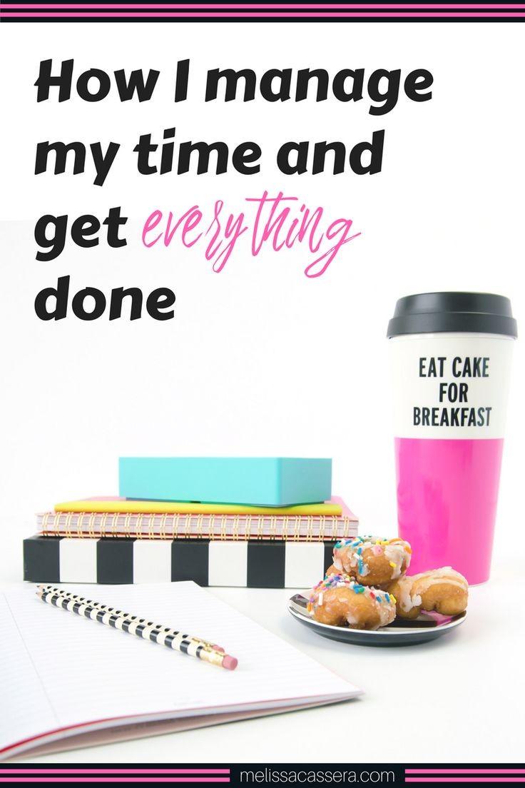 """One of the #1 things I'm asked is: """"How do you manage your time and get so much done?"""" This makes me snort with laughter (like, latte foam coming out of my nose) because I really don't feel like I'm a """"time management expert."""" Nor do I have everything together, every day. But I figured since I'm asked this question all the time, I might as well share some behind the scenes info on how I manage my time, how I choose priorities for each workday, and of course, how I manage to..."""