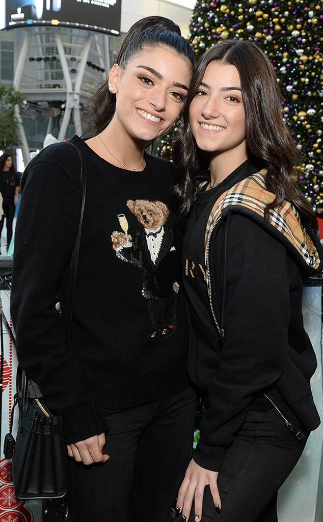 Charli And Dixie D Amelio From Celebrities Celebrate The Holidays