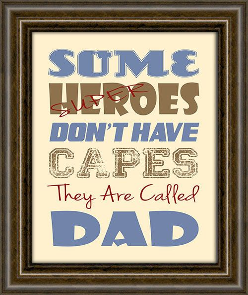 Gift For Dad - Fathers Day Gift - Gifts From Kids - Dad Gift - 8X10 Print - Dad Super Hero Print via Etsy