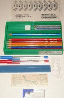 Você se lembra?: Estojo escolar - Faber Castell