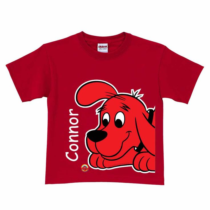 Get this For LBJ The Official PBS KIDS Shop | Clifford the Big Red Dog Close-Up Red T-Shirt