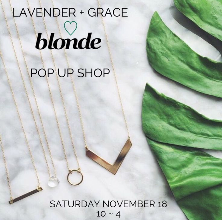 Lavender and Grace pop up shop this Saturday!