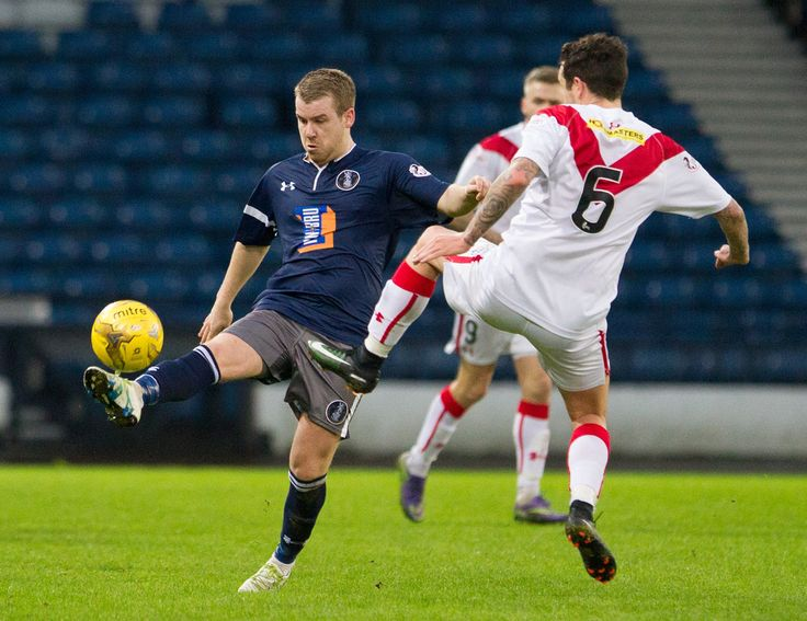Queen's Park's Jamie McKernon in action during the Ladbrokes League One game between Queen's Park and Airdrieonians.