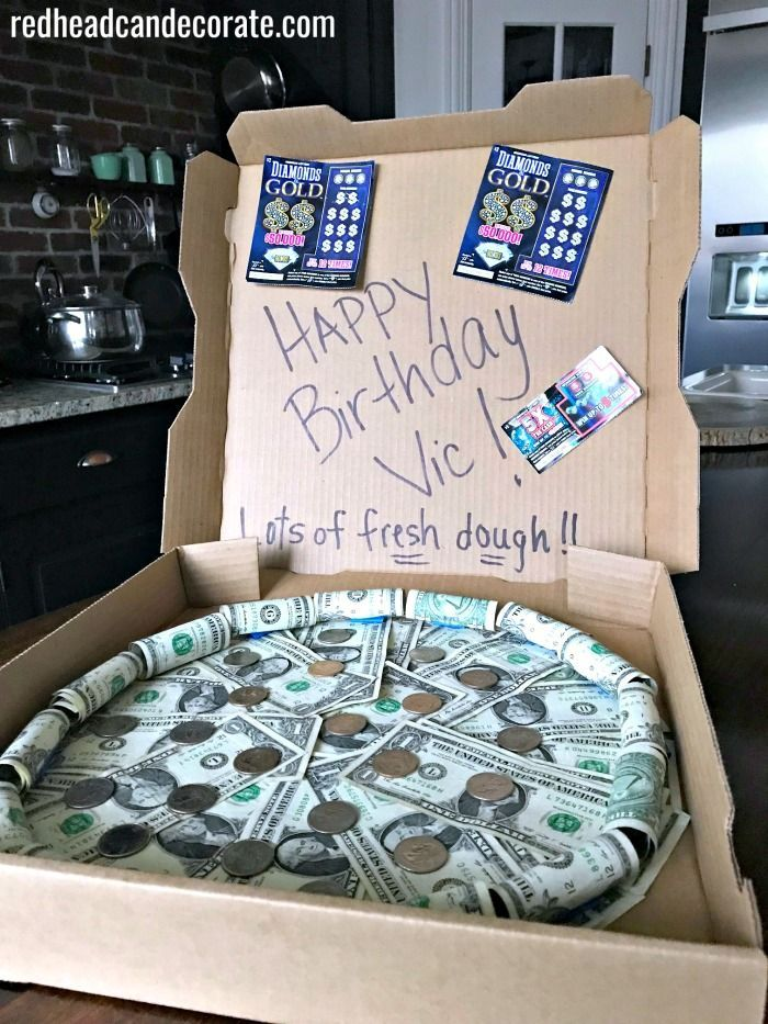 Money Pizza Pie Gift