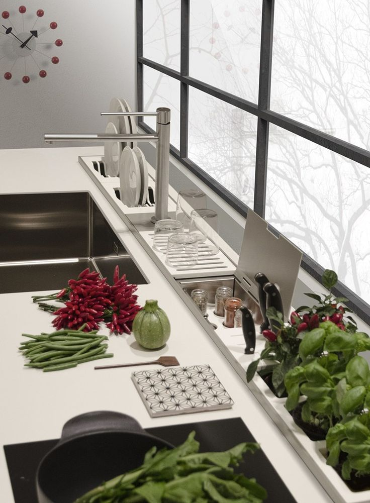 Kitchen equipped track EASYRACK KITCHEN STEP | Kitchen equipped track by DOMUSOMNIA
