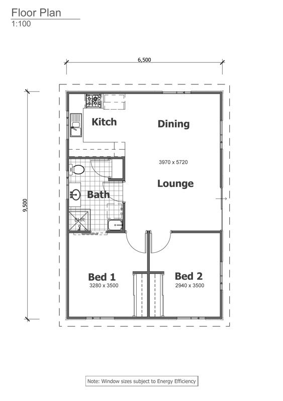 Retreat grannyflat floorplan the granny flats for 2 bedroom granny flat designs