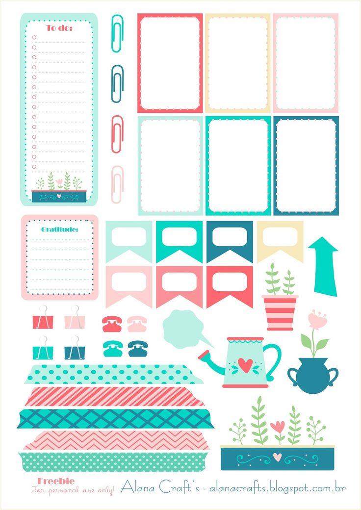 Boa noite pessoal! Segue um freebie para decorar seu planner, as imagens lindinhas de jardim são do site freepic. Download ...