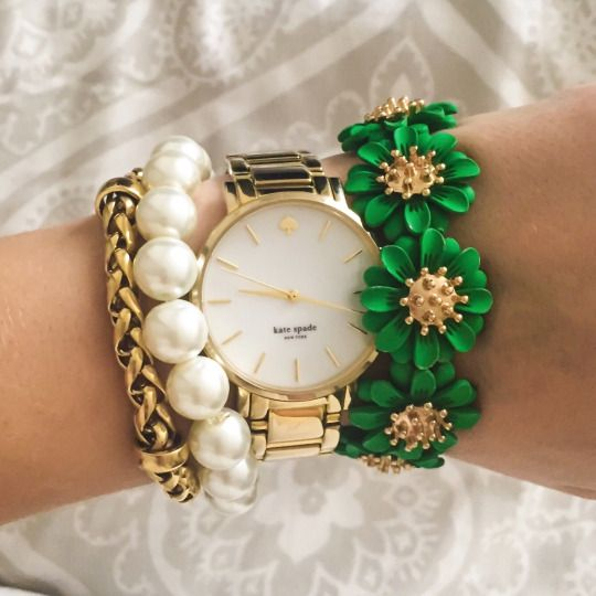 Kate Spade Watch // bracelet stack