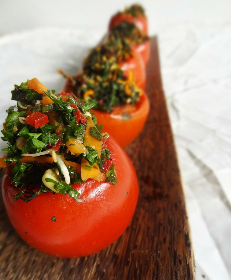 35 best raw food made fun easy beautiful images on pinterest a giveaway for 2 copies of jons book raw food made fun easy beautiful one of the delicious recipes from it raw stuffed tomatoes w herb tapenade forumfinder Gallery