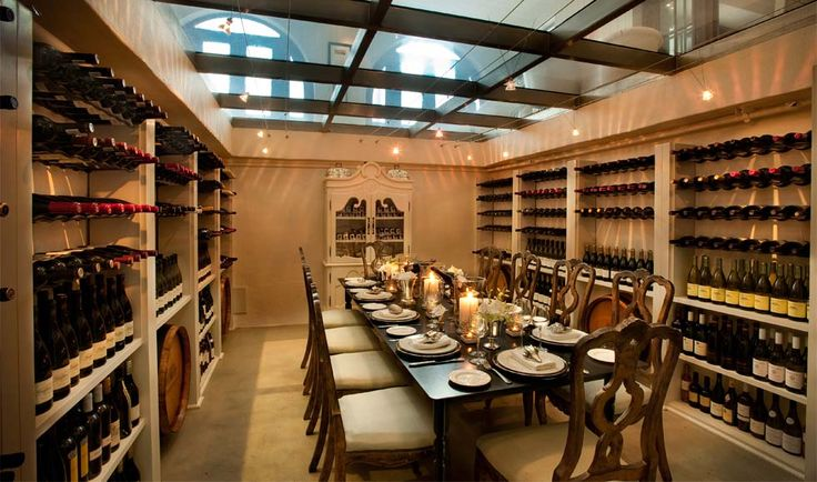 Guest are invited to visit our wine cellar stocked with a selection of the Cape's finest wines