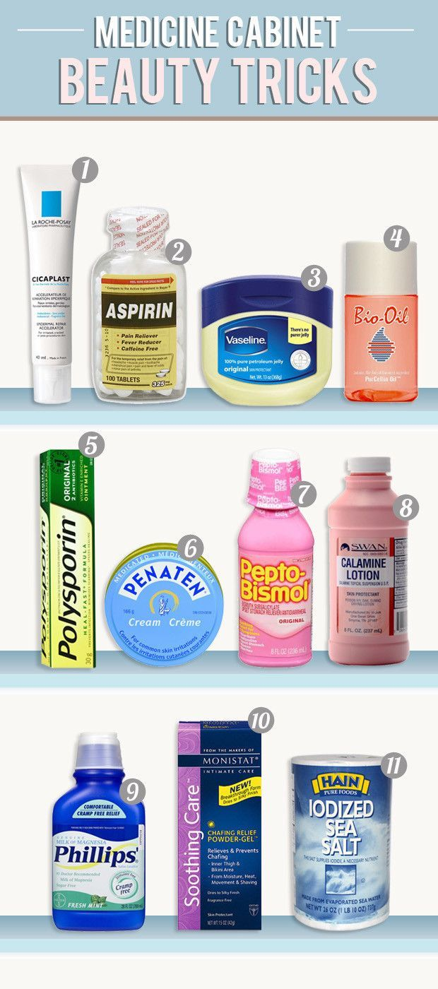 These medicine cabinet products do double duty as amazing beauty products!