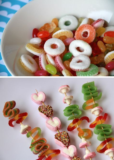 Karkkivarras | lasten | lapset | idea | askartelu | kädentaidot | käsityöt | karkki | vartaat |  herkku | puuhaa | kesä | juhlat | karnevaalit | summer | party| carnivals | DIY | ideas | kids | children | crafts | home | sweets | candy | Pikku Kakkonen