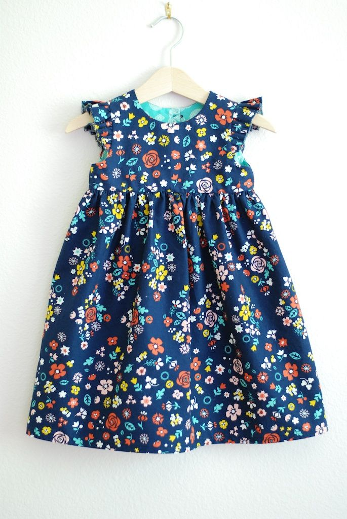 Another adorable dress made with my Blossom Festival fabric!