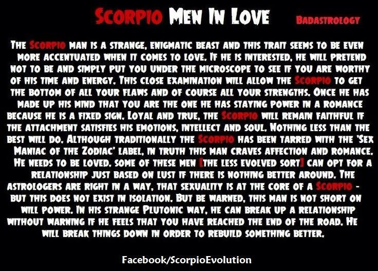 Scorpio Man in Love.  #Scorpio #Zodiac #Astrology  For more Scorpio posts, check out my Facebook page:  https://www.facebook.com/ScorpioEvolution