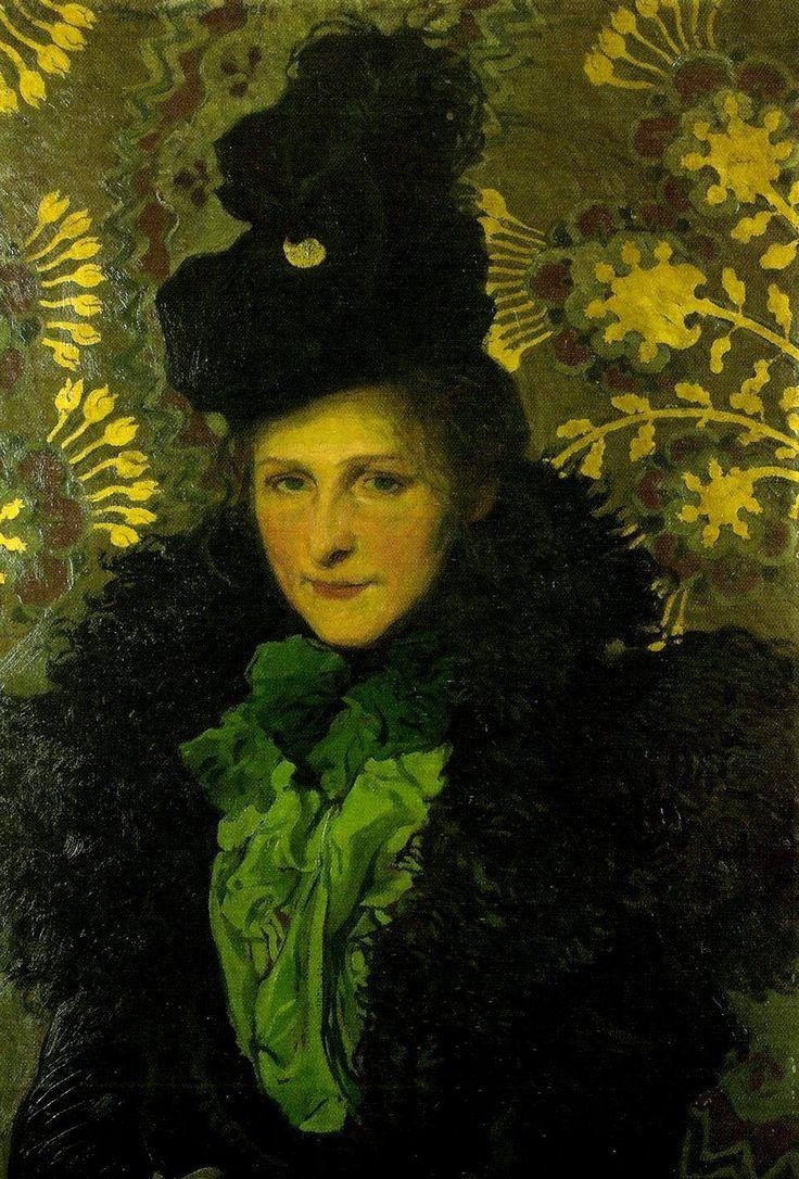 Józef Mehoffer (Polish,1869–1946), Portrait of wife