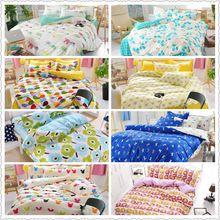 Яркие цветные IKEA дизайн геометрический принт постельных принадлежностей домашнего текстиля полный квин-сайз постельное белье одеяло одеяла покрывало лист(China (Mainland))