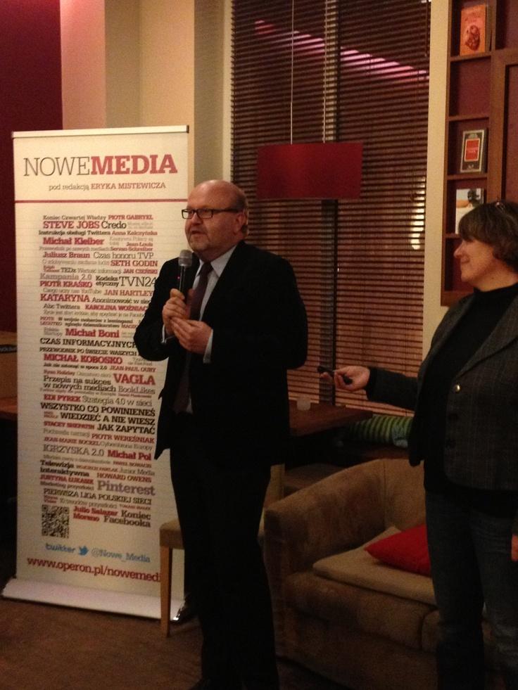Eryk Mistewicz, redaktor Nowych Mediów nie musiał zbyt długo zachęcać do rozpoczęcia dyskusji o przyszłości mediów.