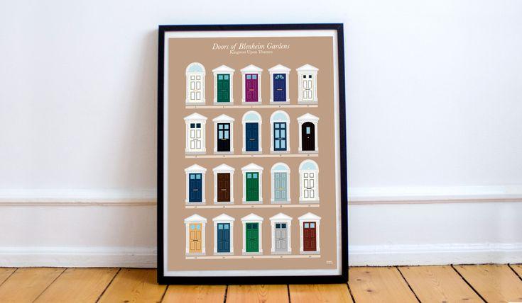 Doors of Blenheim Gardens (Kingston, London)  by Cayetana Mate.