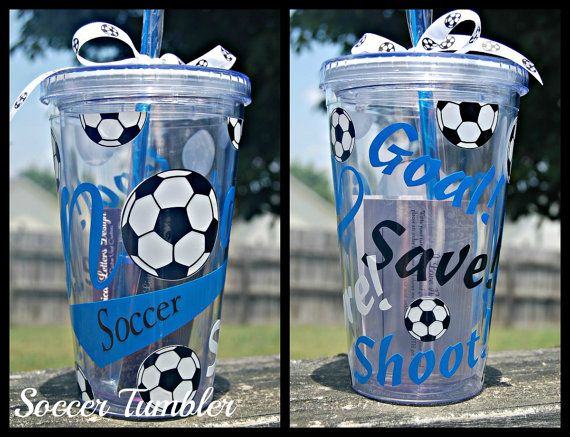 Soccer tumbler  16oz personalized Acrylic by lyricalletters, $16.00