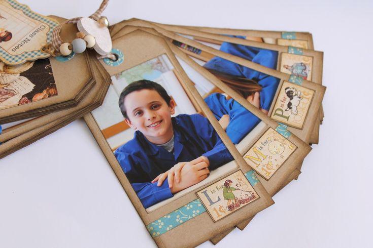 Robe di Robi: Ricordi di scuola - Parte terza: un mini album come regalo alla maestra - ABC Primer Graphic 45