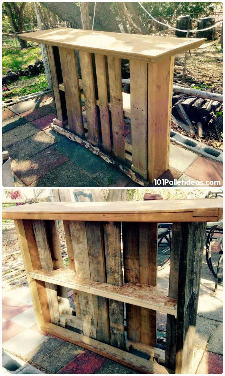 if you just want to do your own beverage pallet bar projects at your home  then you can choose any from these DIY pallet bar ideas which are all to  make your