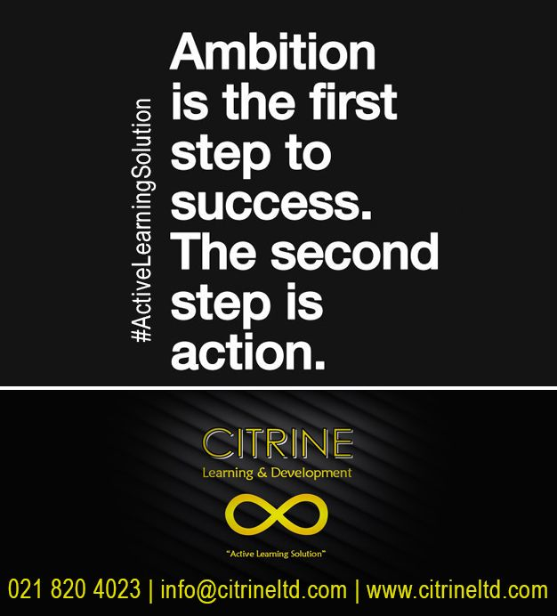 Ambition is the first step to success! The second step is action!  Through a culmination of 18 years of various coaching, training and development experiences has borne an integrated approach to personal development in the form of #ActiveLearningSolution.