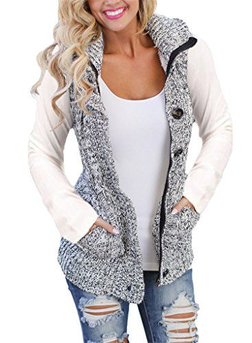 7177f3e79b Sweater Vest Button-up Cable Knit Sleeveless Cardigan Coats Outerwear