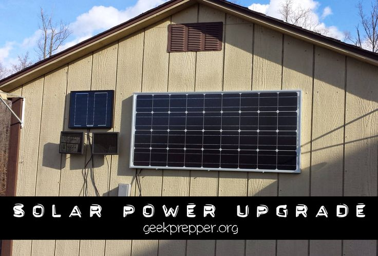 100 Watt Solar Panel Upgrade   A quick write up on my recent 100 Watt Solar Panel Upgrade to my existing tiny solar power setup.