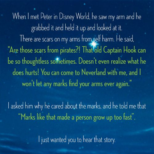 Peter Pan: Real Life Hero! The Disneyland Peter Pan goes out of his way to help and stick up for kids!  What a great way to use the Disney persona!