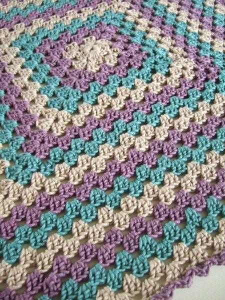 Crochet~ Granny Blanket - love the colors!