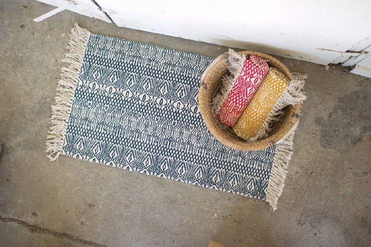 Batik Printed Cotton Rugs - Set of 3