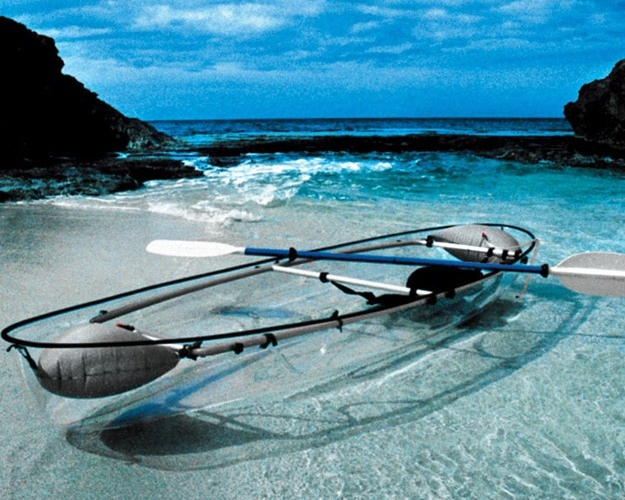 Glass boat, how cool?
