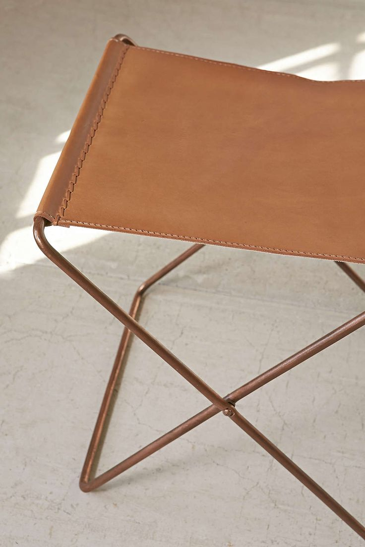 Leather Sling Stool Beach House Furniture Stool Accent