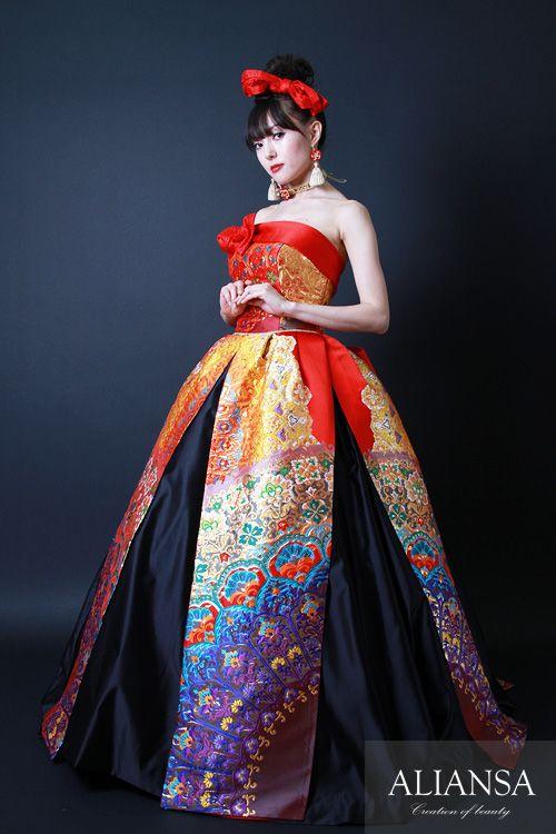 和ドレス・ウエディングドレスのドレスオーダー・レンタルドレスはアリアンサ|和ドレス・織姫|ドレスのレンタル オーダーメイド