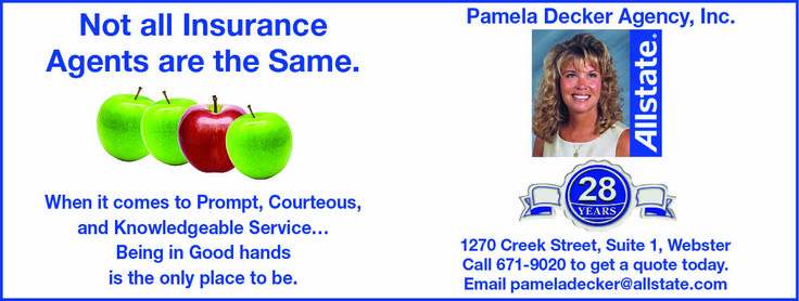 Insurance agents are important. All State agent Pamela
