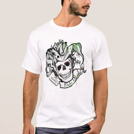 Suicide Squad | Joker Skull 'All In' Tattoo Art T-Shirt - tap to personalize and get yours