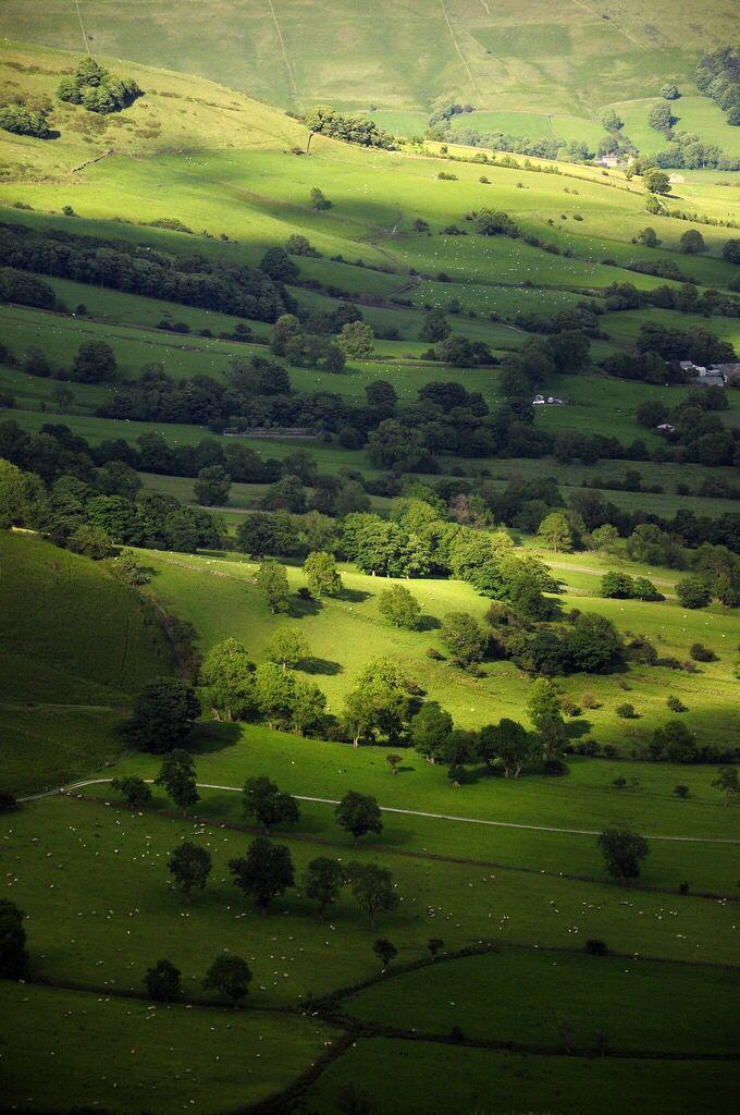 View from Mam Tor, Castleton, Derbyshire, England.