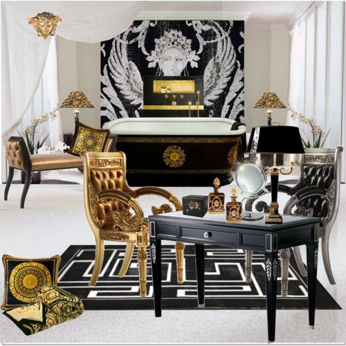 42 best images about versace home on pinterest baroque for Versace bathroom accessories