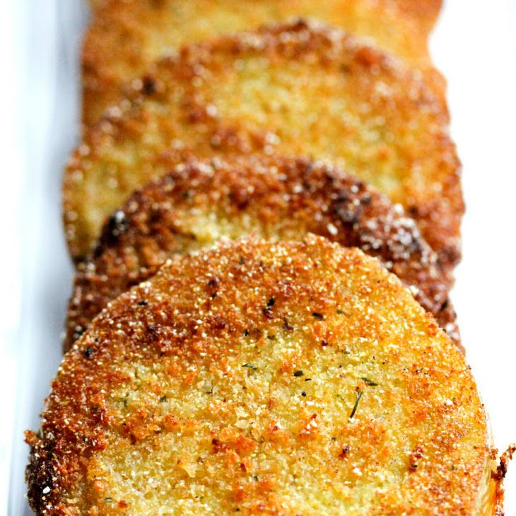 Fried Green Tomatoes Recipe Side Dishes with green tomatoes, panko breadcrumbs, Italian seasoned breadcrumbs, cornmeal, kosher salt, pepper, buttermilk, eggs, vegetable oil