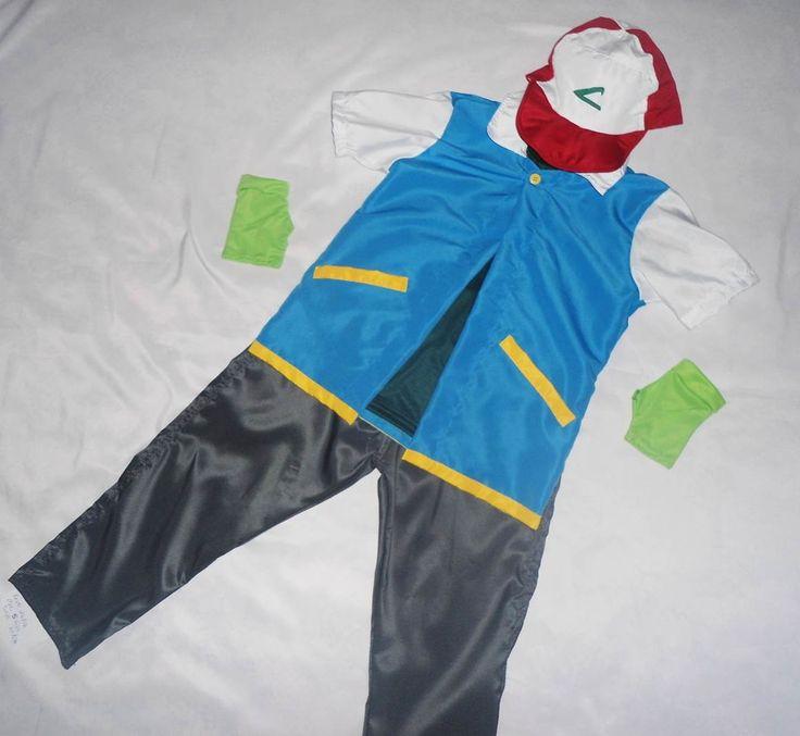 fantasia ash pokemon <br> <br>tamanhos : P M G GG infantil <br> <br>outros tamanhos sob consuta