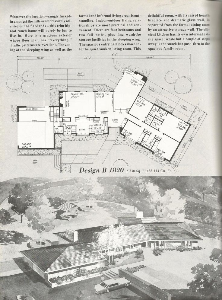 46 best mid century floor plans images on pinterest | modern house