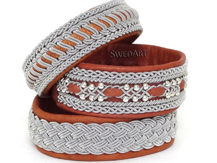 SwedArt B118 Frost  Leather Bracelet in Martha Stewart by SwedArt, $165.00