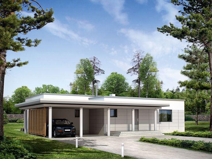 Dom mieszkalny jednorodzinny przeznaczony dla 4-osobowej rodziny. Zaprojektowano czytelny, funkcjonalny układ parteru.