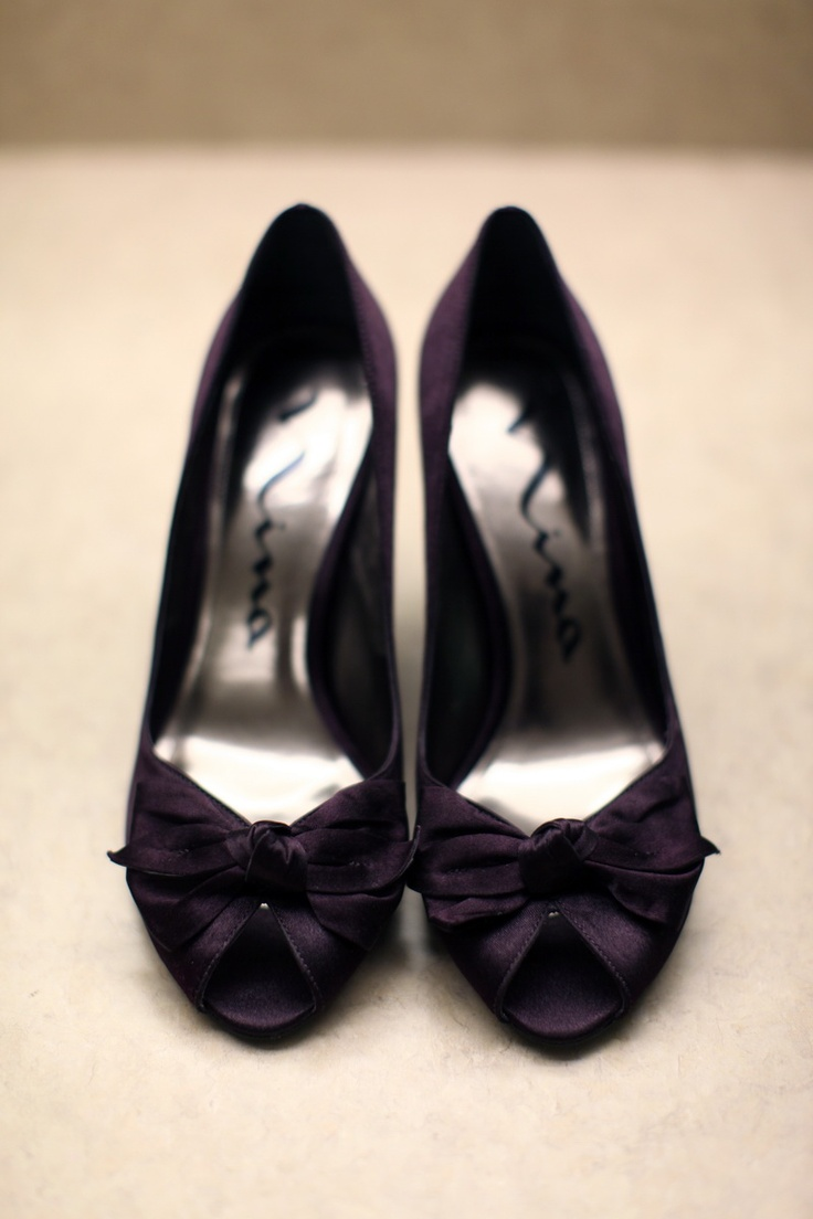 bridal shoes heels knot purple plum more wedding ideas at