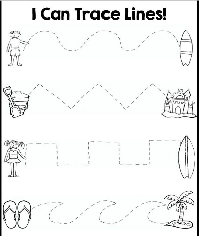 Helping little ones to Trace lines. Great for Kinders!